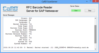 Barcode Scan Server SAP