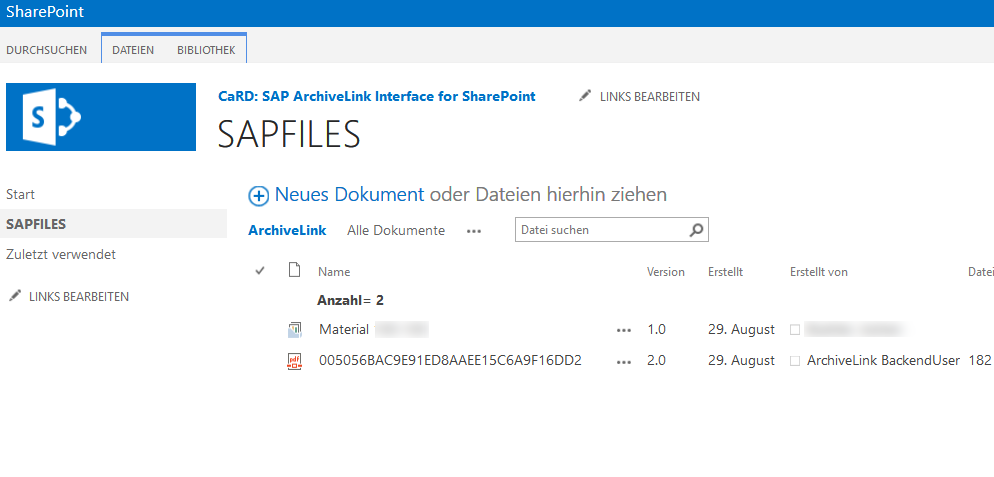 SharePoint Archivelink for SAP