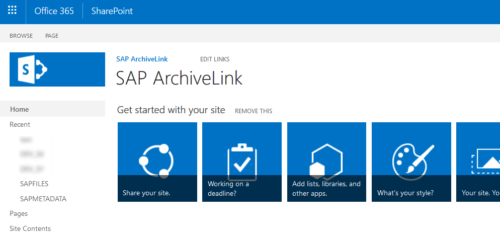 SharePoint ArchiveLink