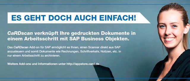 SAP Scannen von Dokumenten